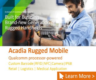 Evokunen of Autom Cp Built for Business Brand-new Generation o Rugged Handhelds Acadia Rugged Mobile Qualcomm processor-powered Custom Barcode RFID | NFC | Camera IP68 Retail Logistics Medical Application Learn More>