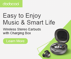 dodacaal Easy to Enjoy Music & Smart Life Wireless Stereo Earbuds with Charging Box Learn More