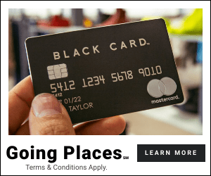 BLACK CARD 5412 1234 5618 90 412 01/22 TAYLOR mostercard Going Places. Terms & Conditions Apply. LEARN MORE