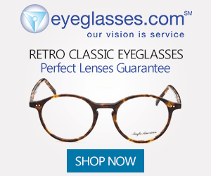 eyeglasses.com SM our vision is service RETRO CLASSIC EYEGLASSES Perfect Lenses Guarantee SHOP NOW