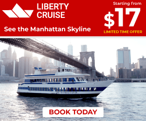 Starting from LIBERTY CRUISE $17 See the Manhattan Skyline LIMITED TIME OFFER BOOK TODAY