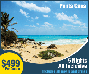 Punta Cana 5 Nights All Inclusive $499 Per Couple Includes all meals and drinks