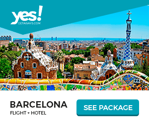 yes! CETAWAYS.COM O O BARCELONA FLIGHT HOTEL SEE PACKAGE