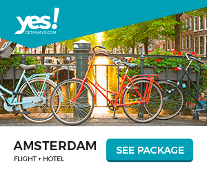 yes! CETAWAYS.COM AMSTERDAM FLIGHT HOTEL SEE PACKAGE