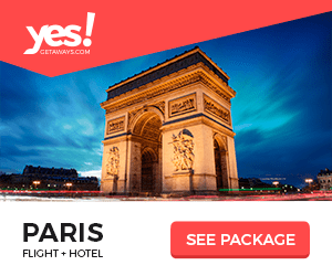 yes! CETAWAYS.COM PARIS FLIGHT HOTEL SEE PACKAGE