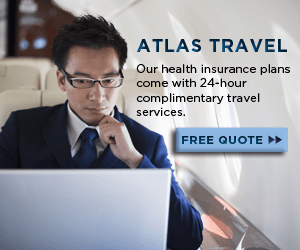 ATLAS TRAVEL Our health insurance plans come with 24-hour complimentary travel services FREE QUOTE