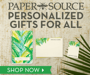 PAPER SOURCE PERSONALIZED GIFTS FOR ALL MONCA GAES wo vRONC CAES SHOP NOW