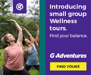 Introducing small group Wellness tours. Find your balance. G Adventures FIND YOURS