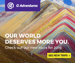 GAdventures OUR WORLD DESERVES MORE YOU. Check out our new tours for 2019. SEE NEW TRIPS