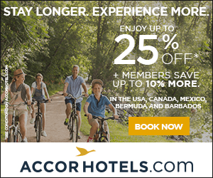 STAY LONGER EXPERIENCE MORE. ENJOY UP TO % 2 OFF MEMBERS SAVE UP TO 10% MORE IN THE USA, CANADA, MEXICO, BERMUDA AND BARBADOS BOOK NOW ACCORHOTELS.Com cONDImORgONAOcomeoTaO