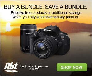 BUY A BUNDLE. SAVE A BUNDLE. Receive free products or additional savings when you buy a complementary product. Canon Abt Electronics, Appliances & More SHOP NOW
