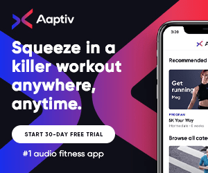 Aaptiv Squeeze in a killer workout Recommended anywhere, anytime Get running Meg PHOSEAN SK Your Way Hedaneks START 30-DAY FREE TRIAL Browse all cate #1 audio fitness app