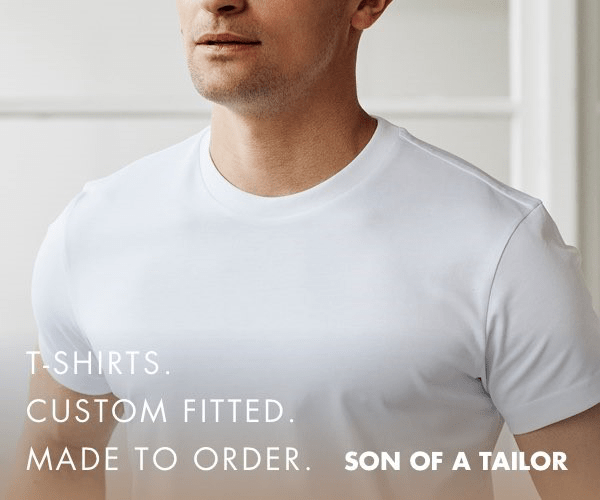 T-SHIRTS CUSTOM FITTED. MADE TO ORDER. SON OF A TAILOR