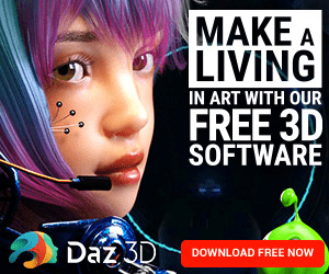 MAKE A LIVING IN ART WITH OUR FREE 3D SOFTWARE Daz 3D DOWNLOAD FREE NOW