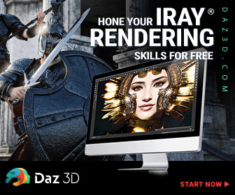 HONE YOUR IRAY RENDERING SKILLS FOR FREE Daz 3D START NOW DA Z 3 D.COM