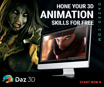 HONE YOUR 3D ANIMATION SKILLS FOR FREE Daz 3D START NOW DAZ 3 D .C O M