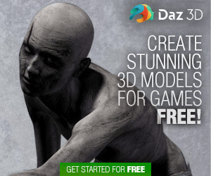 Daz 3D CREATE STUNNING 3D MODELS FOR GAMES FREE! GET STARTED FOR FREE