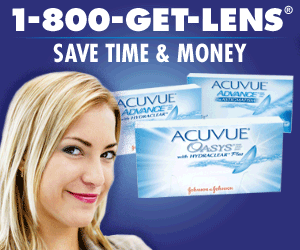1-800-GET-LENS SAVE TIME & MONEY ACUVUE ADMANCES ACUVUE ADVANCE ACEA ACUVUE OASYS ACLEARF