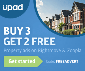 upad BUY 3 GET 2 FREE Property ads on Rightmove & Zoopla Code: FREEADVERT Get started
