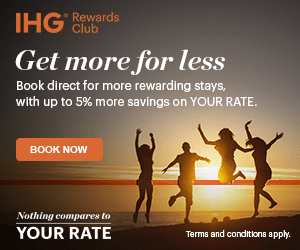 HG Club Rewards Get more for less Book direct for more rewarding stays, with up to 5% more savings on YOUR RATE. BOOK NOW Nothing compares to YOUR RATE Terms and conditions apply