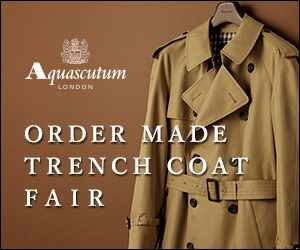 Aquascutum LONDON ORDER MADE TRENCH COAT FAIR