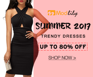 Modlily summER 2017 TRENDY DRESSES UP TO 80% OFF SHOP NOW>
