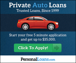 Private Auto Loans Trusted Loans, Since 1999 Start your free 5 minute application and get up to $35,000. Click To Apply! PersonalLoans.com