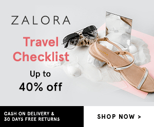 ZALORA Travel Checklist Up to 40% off CASH ON DELIVERY& SHOP NOW> 30 DAYS FREE RETURNS
