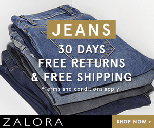 JEANS 30 DAYS FREE RETURNS & FREE SHIPPING Terms and conditions apply ZALORA SHOP NOW