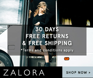 30 DAYS FREE RETURNS & FREE SHIPPING Terms and conditions apply ZALORA SHOP NOW
