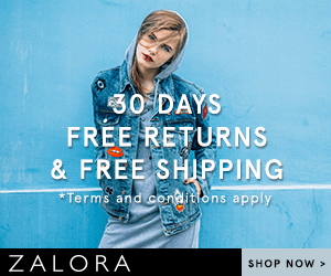 30 DAYS FREE RETURNS & FREE SHIPPING Terms and conlitons apply ZALORA SHOP NOW