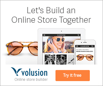 Let's Build an Online Store Together CLEARVW EYEWE CLEARVICW ONAL volusion Try It free Online store builder