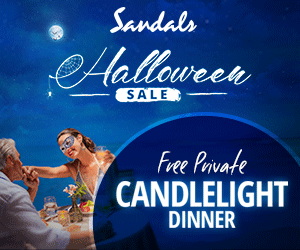 Sandals eHalloween SALE Free Private CANDLELIGHT DINNER