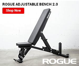 ROGUE ADJUSTABLE BENCH 2.0 Shop Now ROGUE FOGEKE