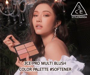 3' 'CE STYLENANDA 3CE PRO MULTI BLUSH COLOR PALETTE #SOFTENER