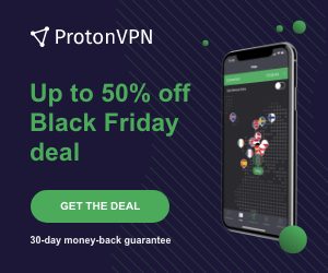 ProtonVPN Up to 50% off Black Friday deal GET THE DEAL 30-day money-back guarantee