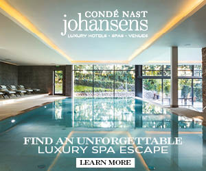 CONDÉ NAST johansens aURY HOTELS- PA - VENUES FIND AN UNFORGETTABLE LUXURY SPA ESCAPE LEARN MORE