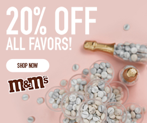 20% OFF ALL FAVORS! SHOP NOW