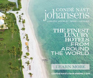 CONDÉ NAST johansens LLURY HOTELS SPAS VENUBS THE FINEST LUXURY HOTELS FROM AROUND THE WORLD LEARN MORE CONDENASTJOHANSENS.COM