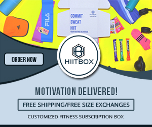 COMMIT SWEAT HIT ORDER NOW HIITBOX MOTIVATION DELIVERED! FREE SHIPPING/FREE SIZE EXCHANGES CUSTOMIZED FITNESS SUBSCRIPTION BOX FILA