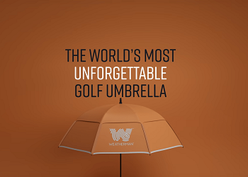 THE WORLD'S MOST UNFORGETTABLE GOLF UMBRELLA WEATHERAN