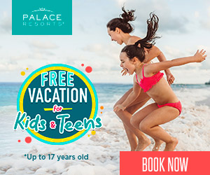 PALACE RESORTS FREE VACATION Rida Teens for *Up to 17 years old BOOK NOW