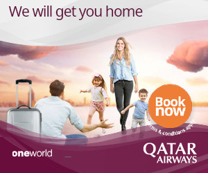 We will get you home Book now &condrions QATAR oneworld AIRWAYS