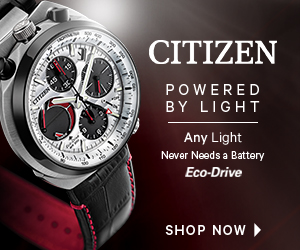 CITIZEN POWERED BY LIGHT Any Light Never Needs a Battery Eco-Drive SHOP NOW
