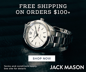 FREE SHIPPING ON ORDERS $100+ SHOP NOW Terms and conditions apply. See site for details JACK MASON