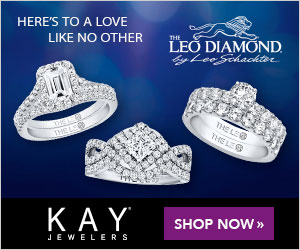 HERE'S TO A LOVE THE LIKE NO OTHER LEO DIAMOND. y LeoSchackter THE LE THE LEG THE LS KAY SHOP NOW » JEWELERS