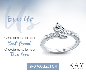 Ever Us One diamond for your Best friend One diamond for your True love KAY SHOP COLLECTION JEWELERS