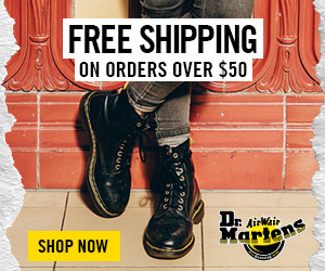 FREE SHIPPING ON ORDERS OVER $50 Dr. AirWair Martens SHOP NOW