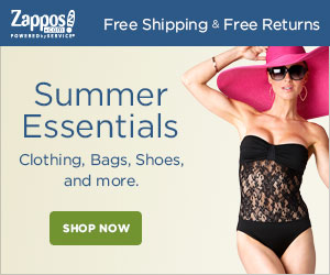 Zappos Free Shipping & Free Returns Summer Essentials Clothing, Bags, Shoes, and more. SHOP NOW