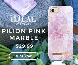 iDEAL OF SWEDEN PILION PINK MARBLE $29.99 EALA EDEN SHOP NOW
